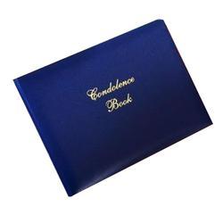 Blue 'Condolence Book'