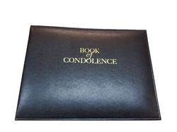Black 'Book of Condolence' Looseleaf Binder