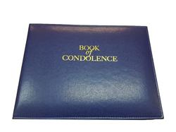 Blue 'Book of Condolence' Looseleaf Binder