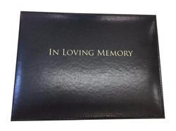 Black 'In Loving Memory' Condolence Book Looseleaf Binder