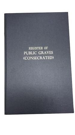 Register of Public Graves in Consecrated Ground