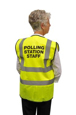 High Visibility Polling Staff Vest - Medium Size