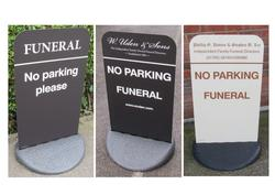 Personalised Funeral 'No Parking Please' Sign