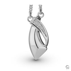 Sterling Silver Crossover Pendant