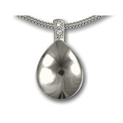 Sterling Silver Puff Tear Drop Pendant (LIMITED STOCK PRICE REDUCED)