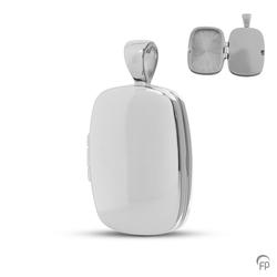 Sterling Silver Rounded Rectangle Locket