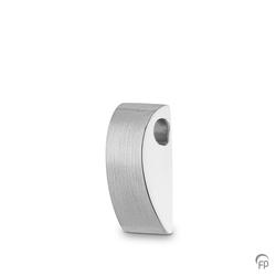Sterling Silver Curved Wedge Pendant