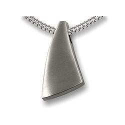 Sterling Silver Curved Scalene Triangle Pendant (PRICE REDUCED)