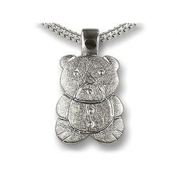 Sterling Silver Teddy Pendant