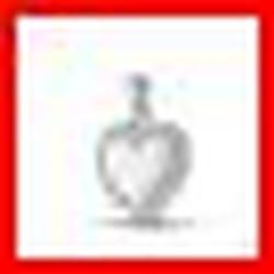 Sterling Silver Abstract Crystal Heart Pendant