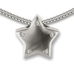 Sterling Silver Crystal Star Slide Pendant