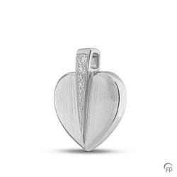 Sterling Silver Heart Crystal Pendant