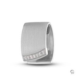 Sterling Silver Crystal Fold-over Pendant
