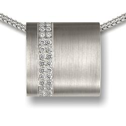Sterling Silver Crystal Wrap-around Pendant (PRICE REDUCED LIMITED STOCK)