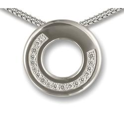 Sterling Silver Round Crystal Ring Pendant (LIMITED STOCK)