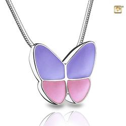 Sterling Silver Butterfly Pendant - Pink Wings (REDUCED PRICE)