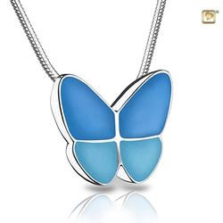 Sterling Silver Butterfly Pendant - Blue Wings (PRICE REDUCED)
