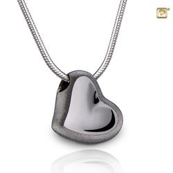 Sterling Silver Leaning Heart Pendant (PRICE REDUCED)