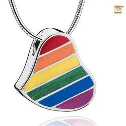 Sterling Silver Rainbow/Pride Heart Pendant PRICE REDUCED)