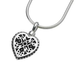Small Sterling Silver Filigree Heart Pendant (PRICE REDUCED)