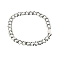 7.5 Inch Sterling Silver Double Link Bracelet (PRICE REDUCED)