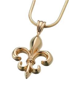 Gold Vermeil Fleur de Lys Pendant (PRICE REDUCED)
