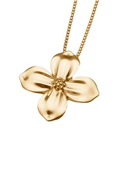 Gold Vermeil Dogwood Blossom Pendant (PRICE REDUCED)