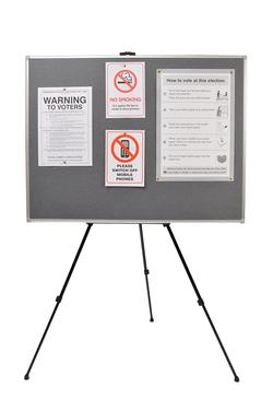 Free-standing notice board