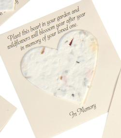 Seed Paper Memorial Tokens [Hearts]