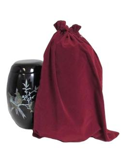 Suedette Urn Bag (Burgundy)