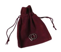 Suedette Jewellery Pouch in Burgundy (Small)