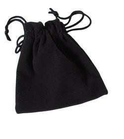 Suedette Jewellery Pouch in Navy Blue (Small)