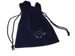 Large Suedette Jewellery Pouch - Navy