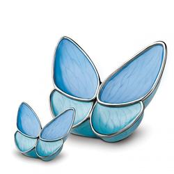 BUTTERFLY URN (BLUE WINGS)    (CLARANCE ITEM LIMITED STOCK)