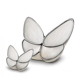 LARGE SIZE BUTTERFLY URN (WHITE WINGS) CLEARANCE ITEM. LIMITED STOCK.
