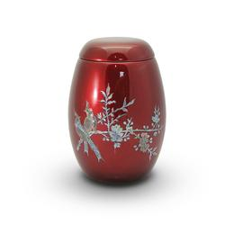 Glass Fibre Urn (Burgundy with Bird Design)