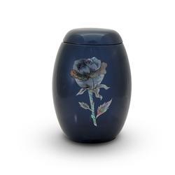Glass Fibre Urn (Blue with Rose Design)