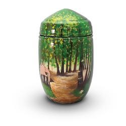 Glass Fibre Urn (Woodland Scene)