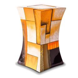 Glass Fibre Urn (Lantern Design in Multicolour Yellow)