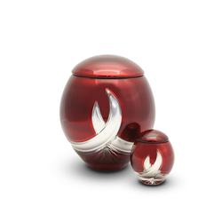 Crystal Urn (Burgundy and Silver)