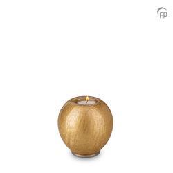 Round Candleholder Crystal Keepsake (Gold)