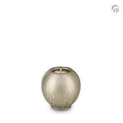 Round Candleholder Crystal Keepsake (Silver)