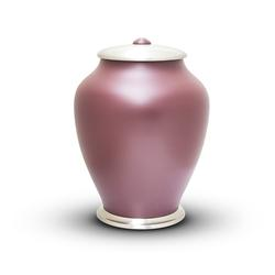 SIMPLICITY URN - MAROON WITH CHROME LID