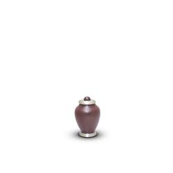 SIMPLICITY KEEPSAKE - MAROON WITH CHROME LID (CLEARANCE ITEM LIMITED STOCK)