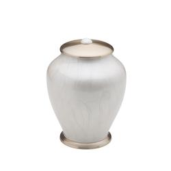 SIMPLICITY URN - MOTHER OF PEARL & GOLD (CLEANCE ITEM. LIMITED STOCK)