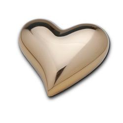 HEART KEEPSAKE - SHINY GOLD FINISH (CLEARANCE ITEM. LIMITED STOCK)