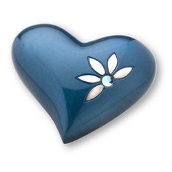 HEART KEEPSAKE - BLUE MOTIF & JEWEL DETAIL (CLEARANCE ITEM. LIMITED STOCK)