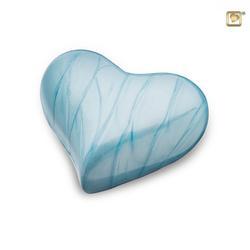 HEART KEEPSAKE - BABY BLUE BRASS (CLEARANCE LIMITED STOCK)