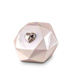 Multi-Faceted Ceramic Urn (Pearl)