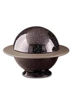 Black 'Saturn' Ceramic Urn (PRICE REDUCED LIMITED STOCK)